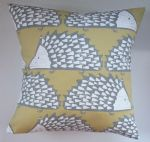 "Cushion Cover in Scion Spike The Hedgehog Honey 14"" 16"" 18"" 20"""